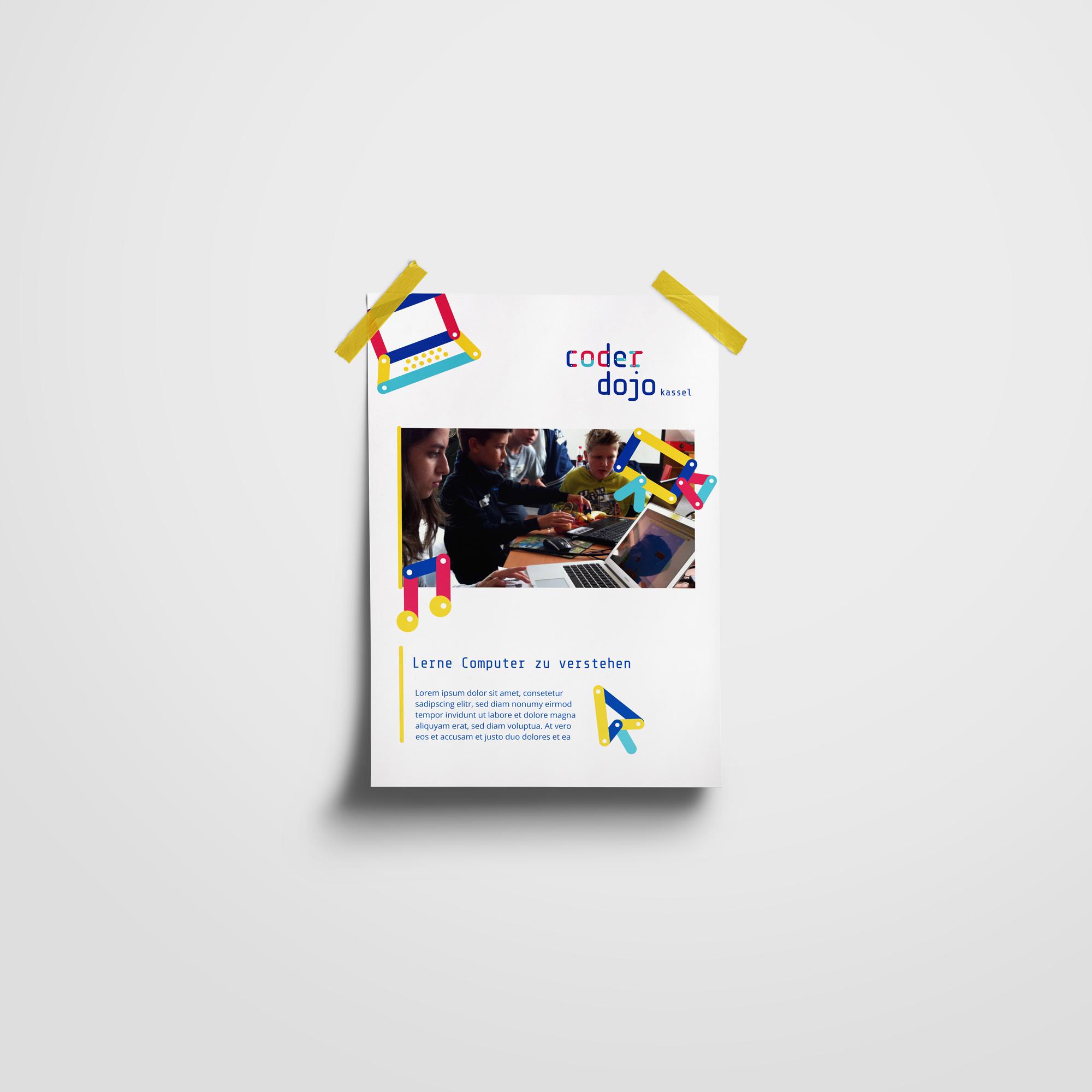Plakat, Entwurf, CoderDojo