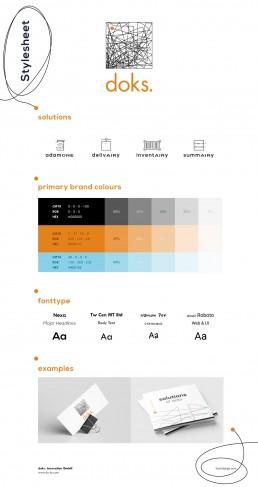 doks innovation stylesheet styleguide branding marke